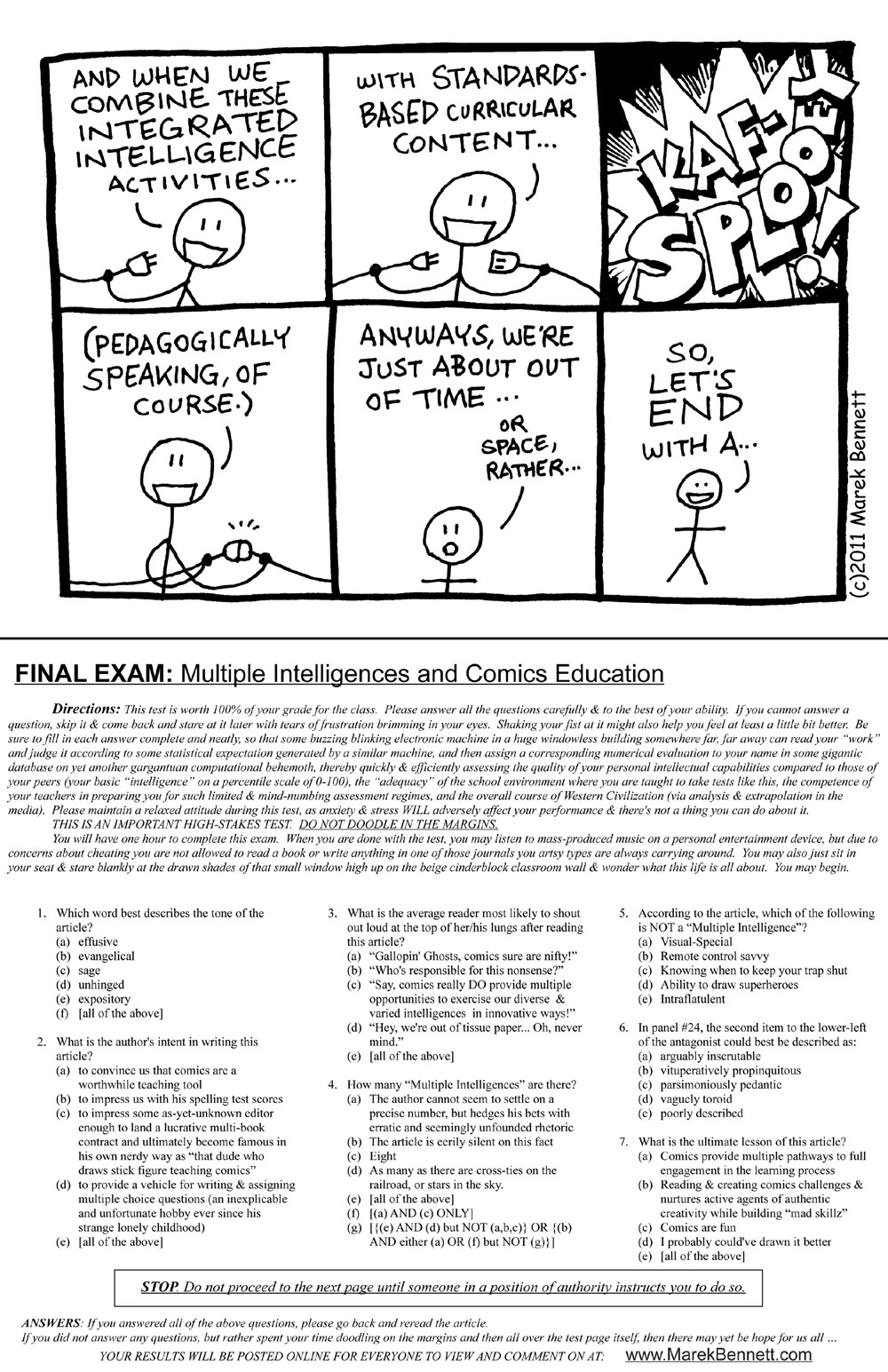 Essays in multiple intelligences