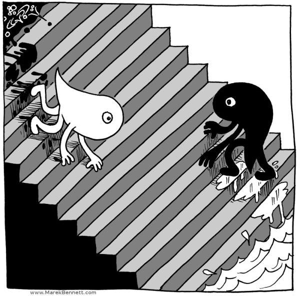 Staircase-Yin+Yang-GRAY-www_MarekBennett_com